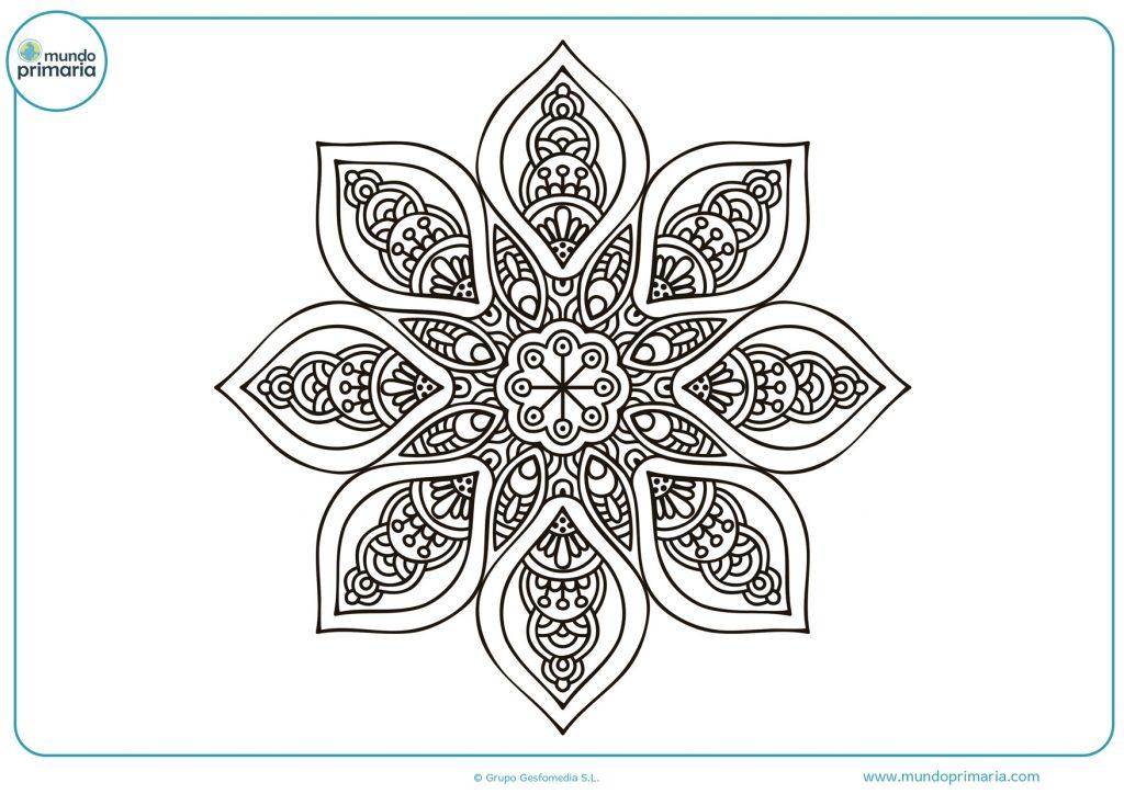 Mandala con forma de estrella