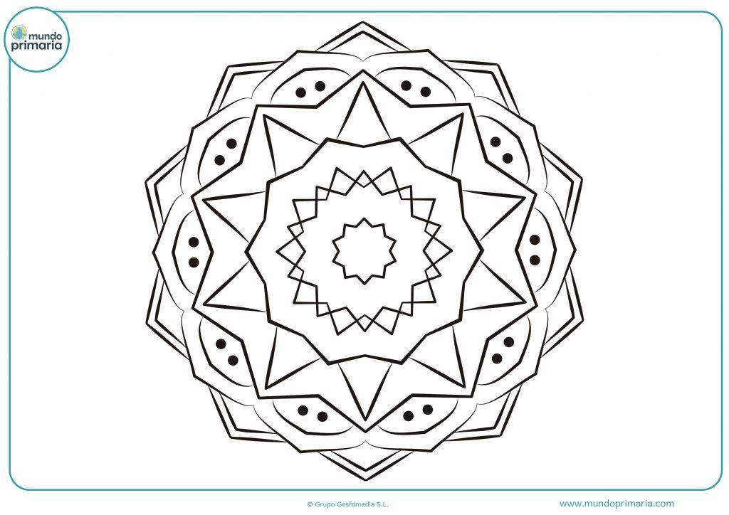 Mandala con triángulos y puntos