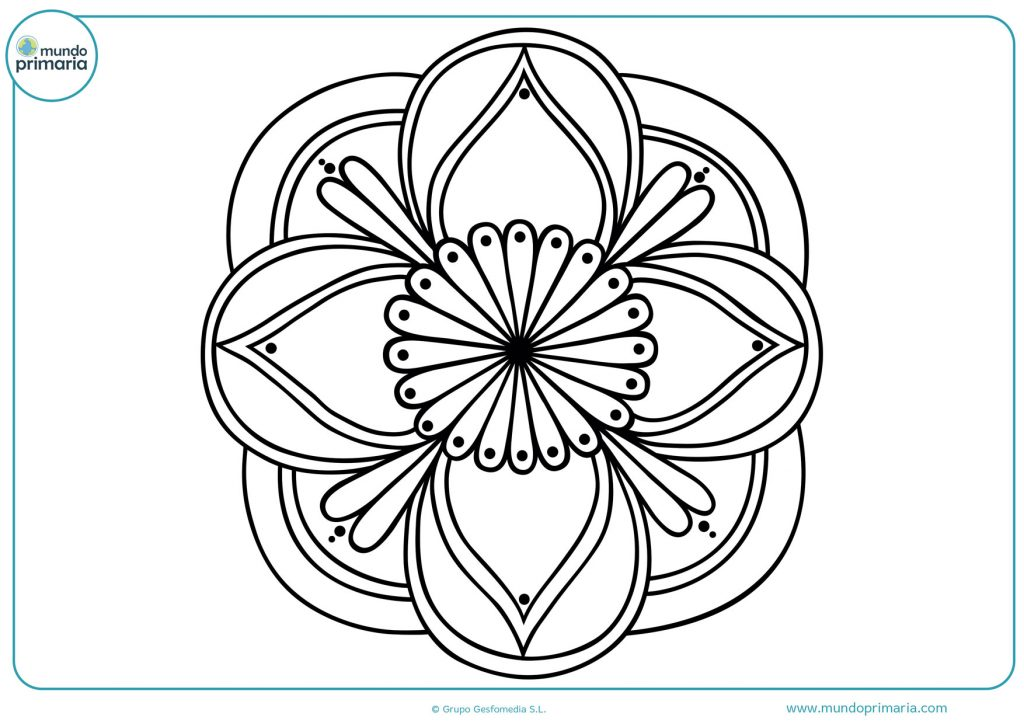Dibujo de mandala de flor