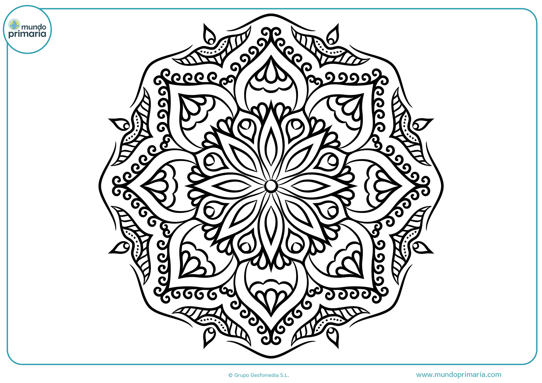 Dibujos colorear mandalas para pintar