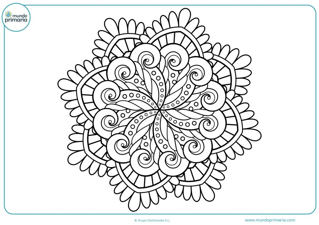Mandala de olas con círculos