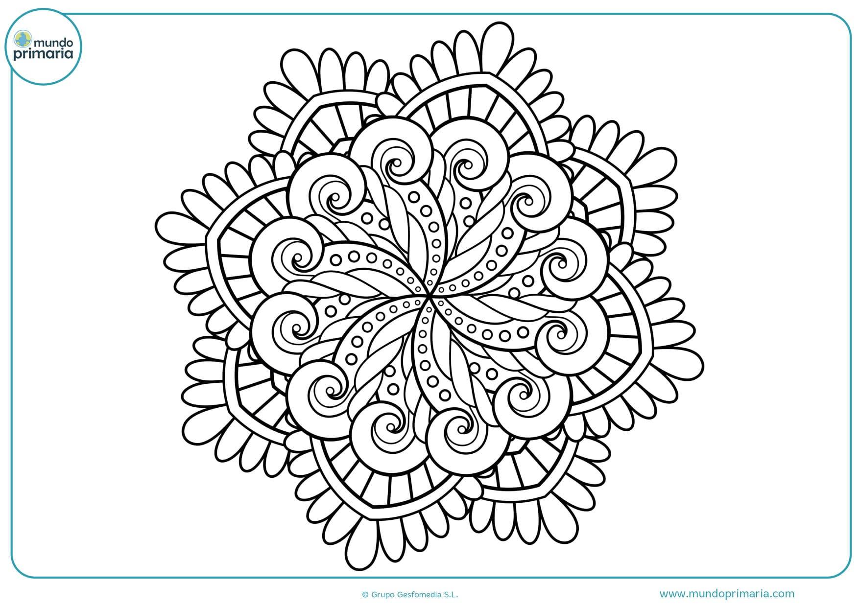 Mandala Para Colorear Animales: Dibujos De MANDALAS PARA COLOREAR Para Niños