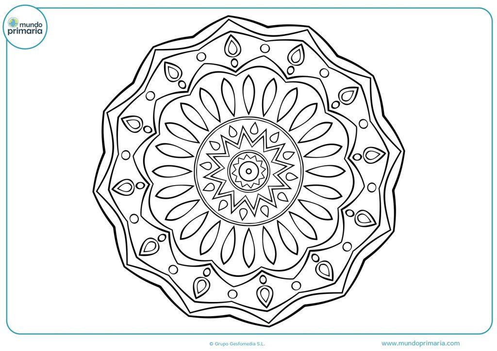 Mandala para imprimir y colorear
