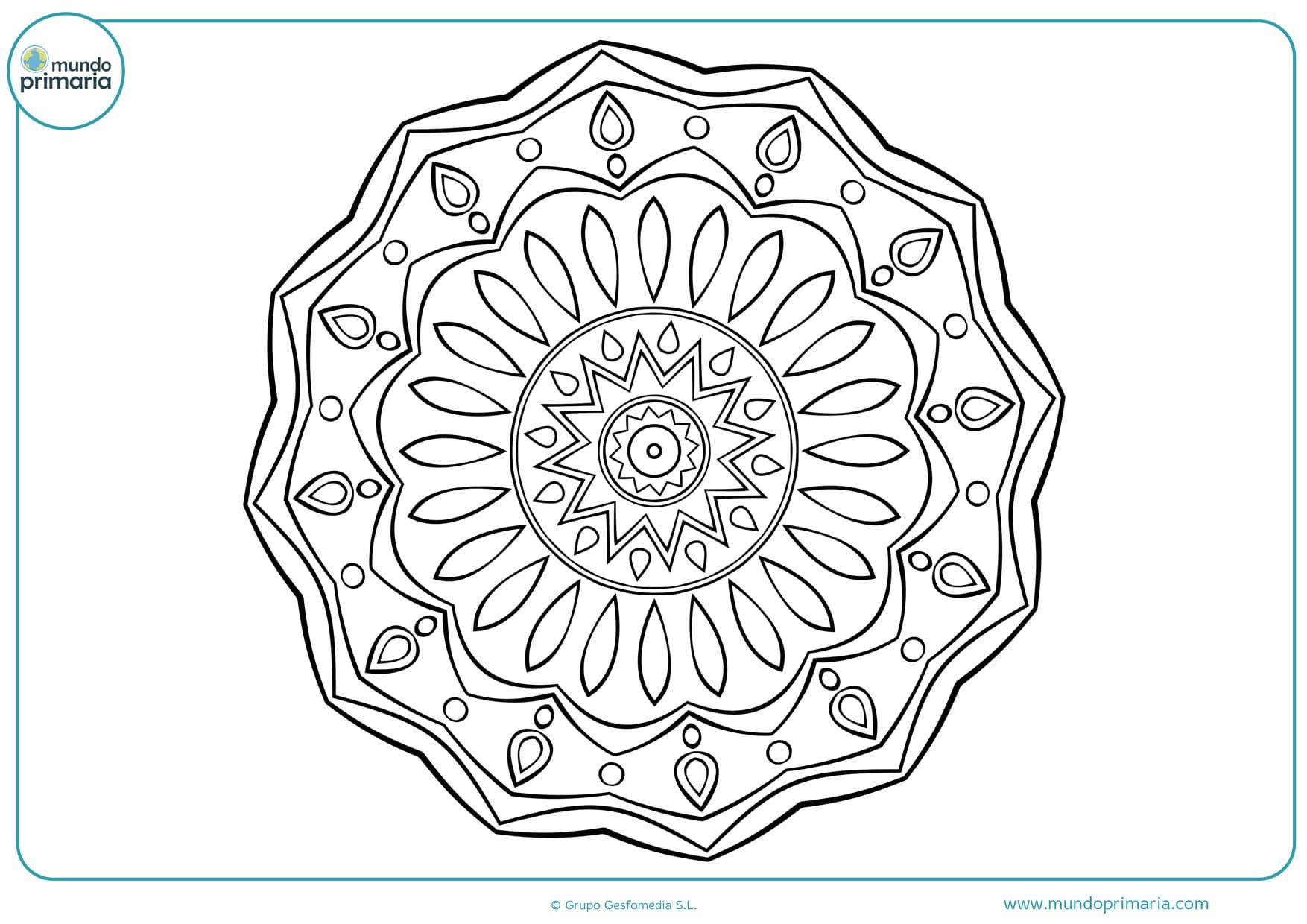 Dibujos de mandalas para colorear para ni os 2018 for Mandalas ninos