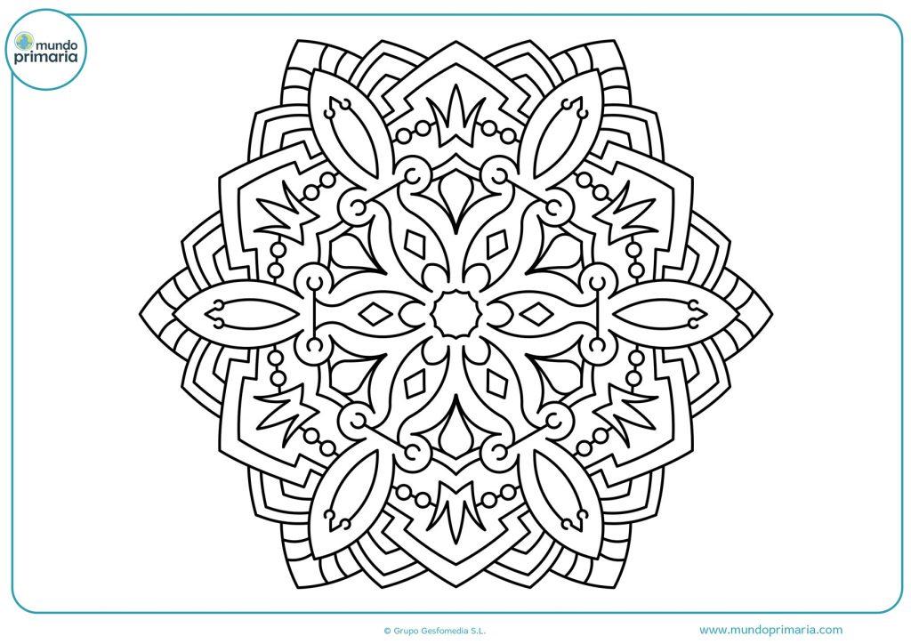 Mandala para colorear para niños