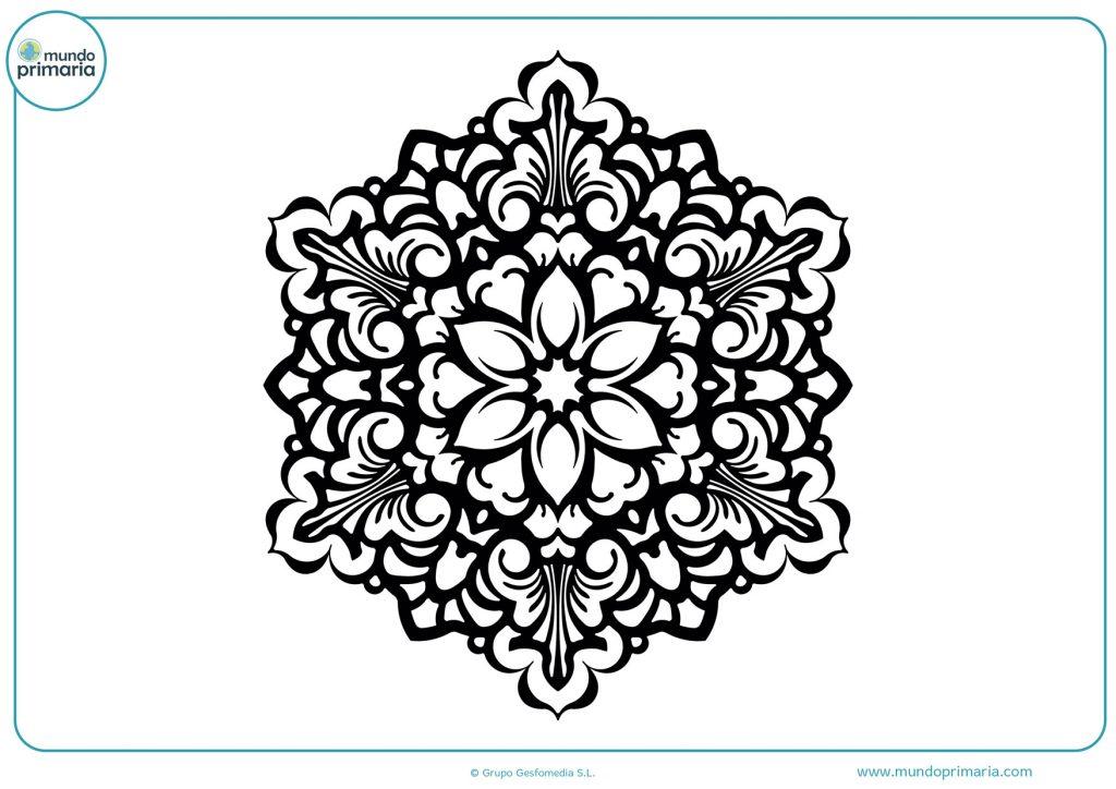 Mandala de flores para niños