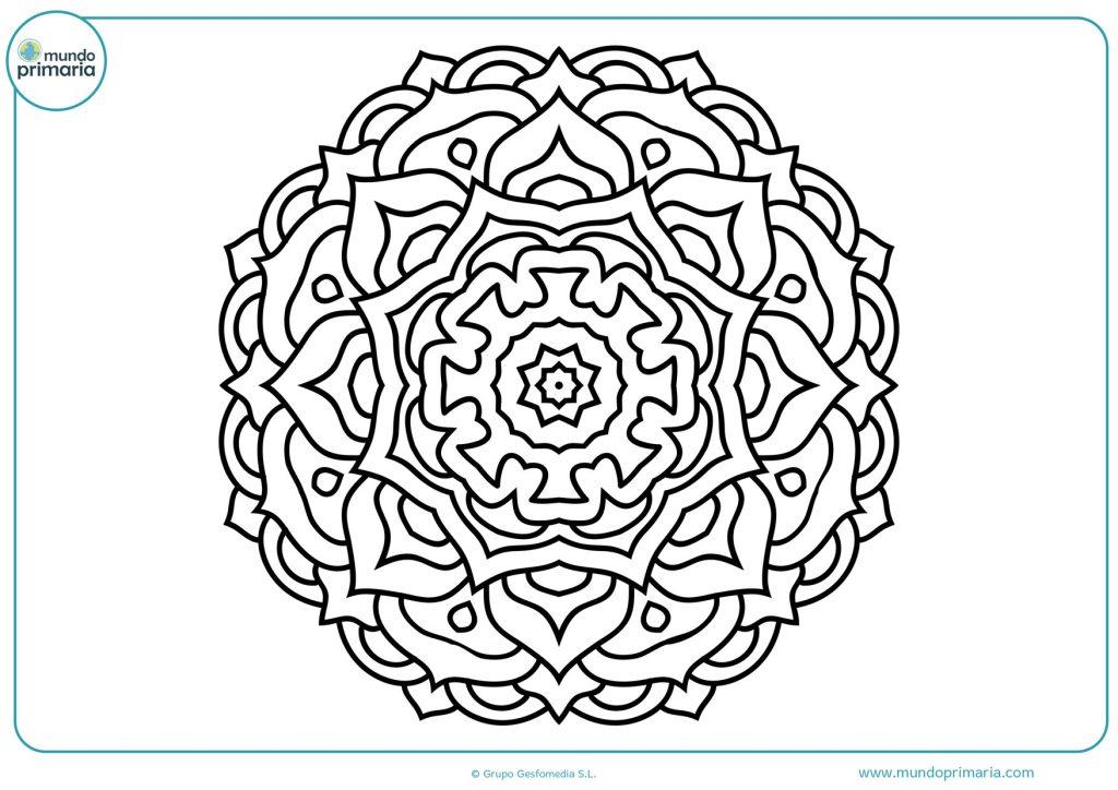 Mandala en blanco para imprimir