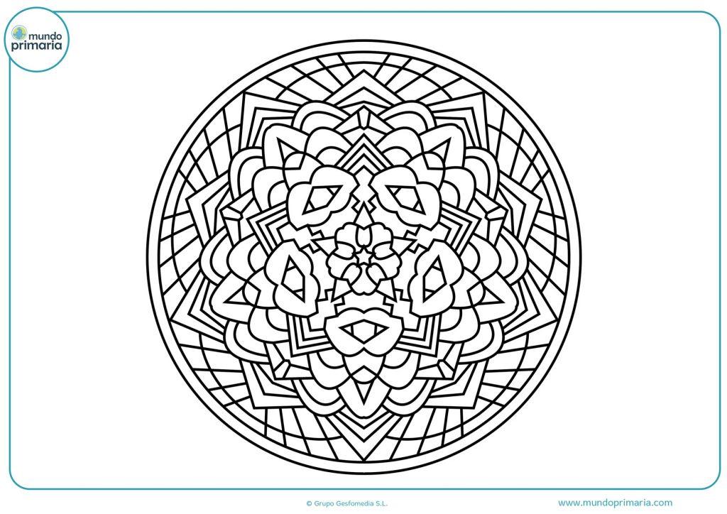 Mandala en blanco para colorear