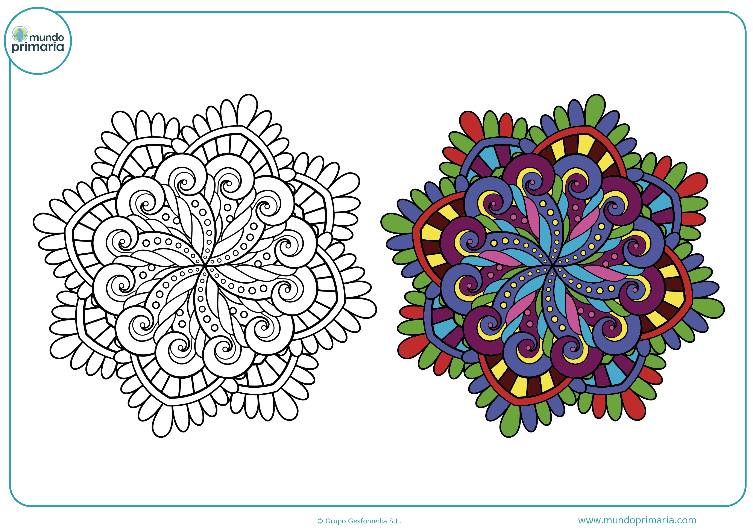 Dibujos colorear mandalas niños