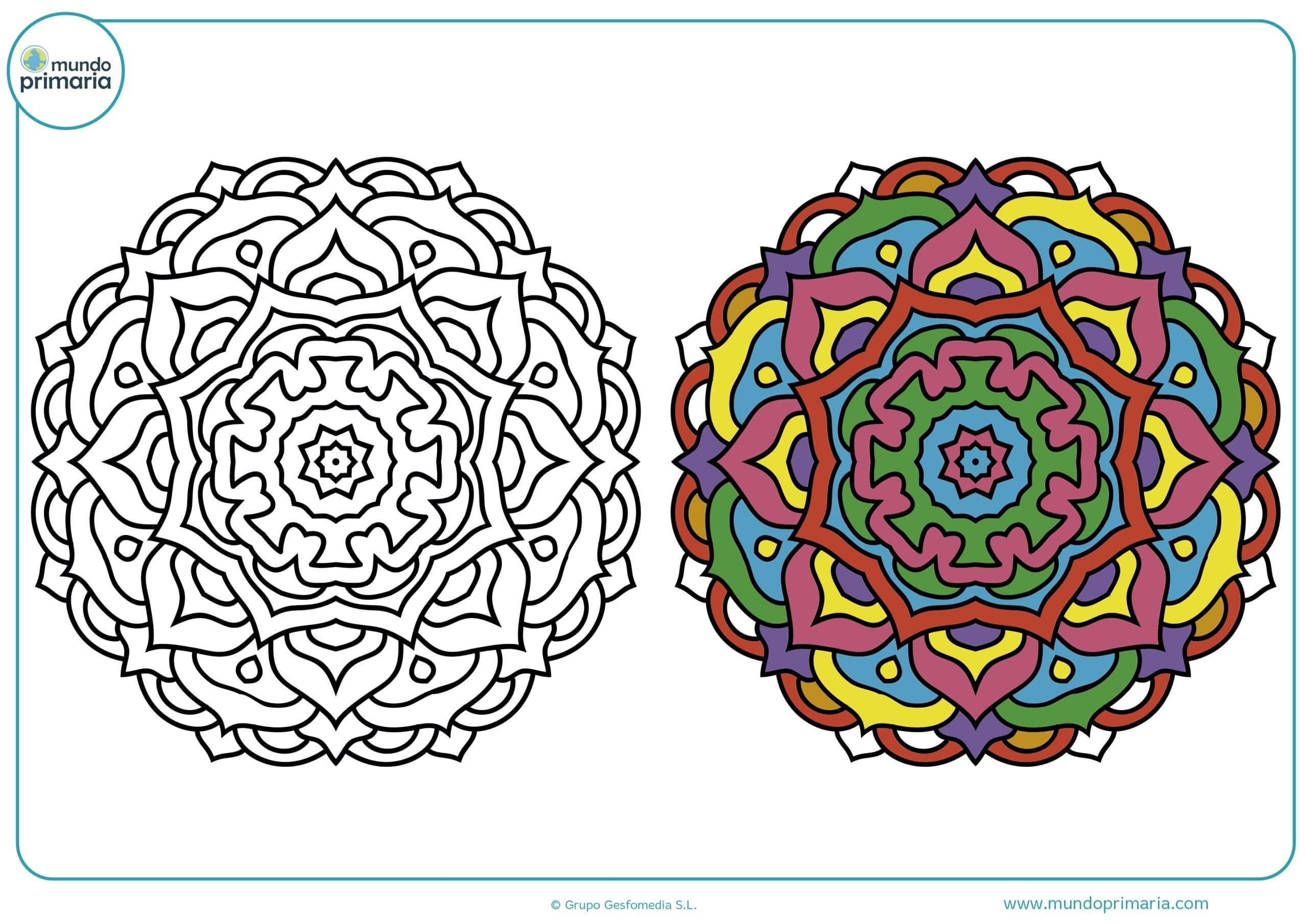 Como Colorear Mandalas. Stunning Gallery Of Free Colorear Mandalas ...