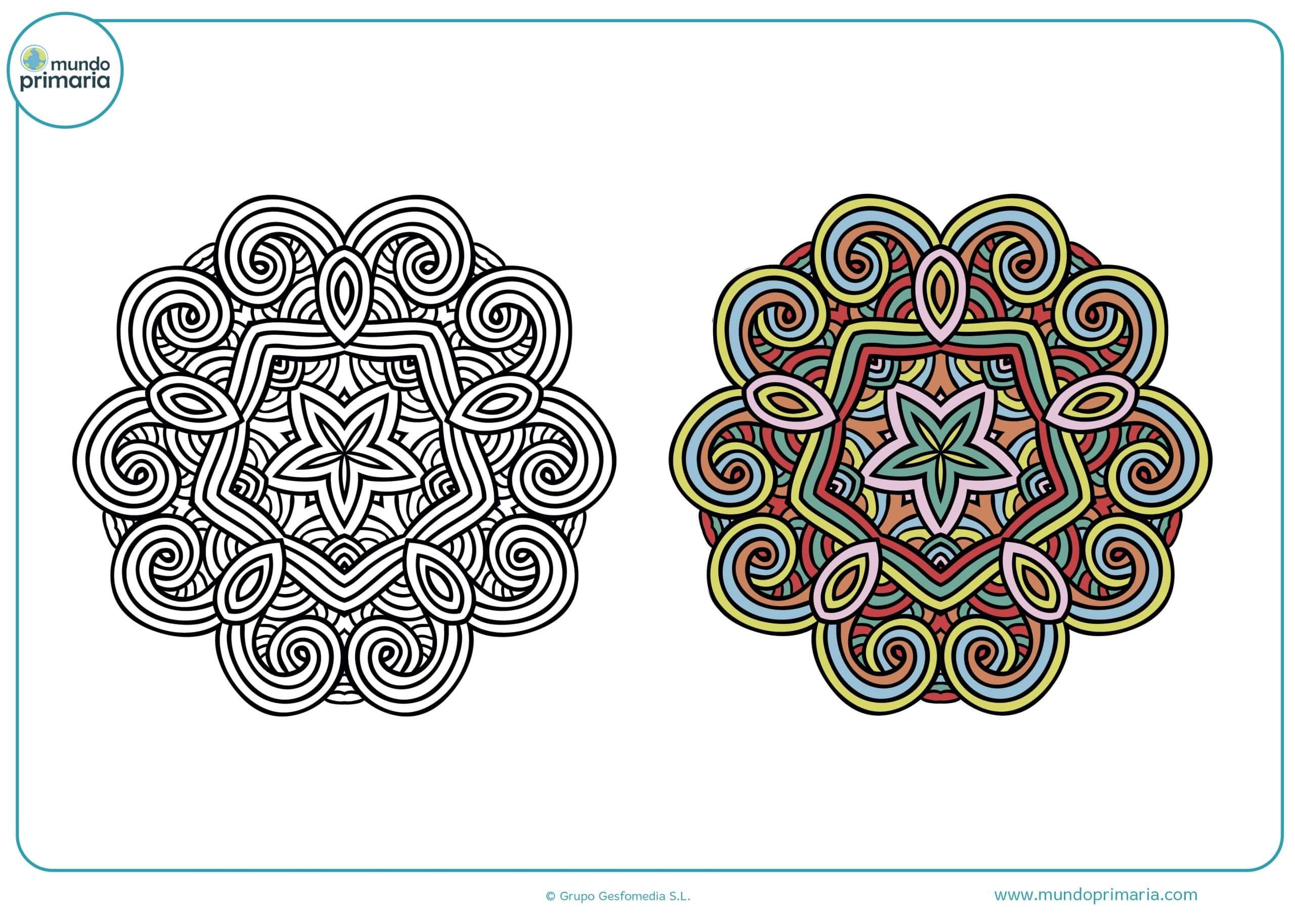 Colorear mandalas para dibujar