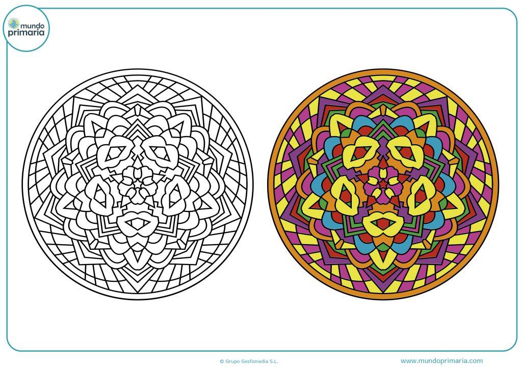 Pareja de mandalas para imprimir y colorear