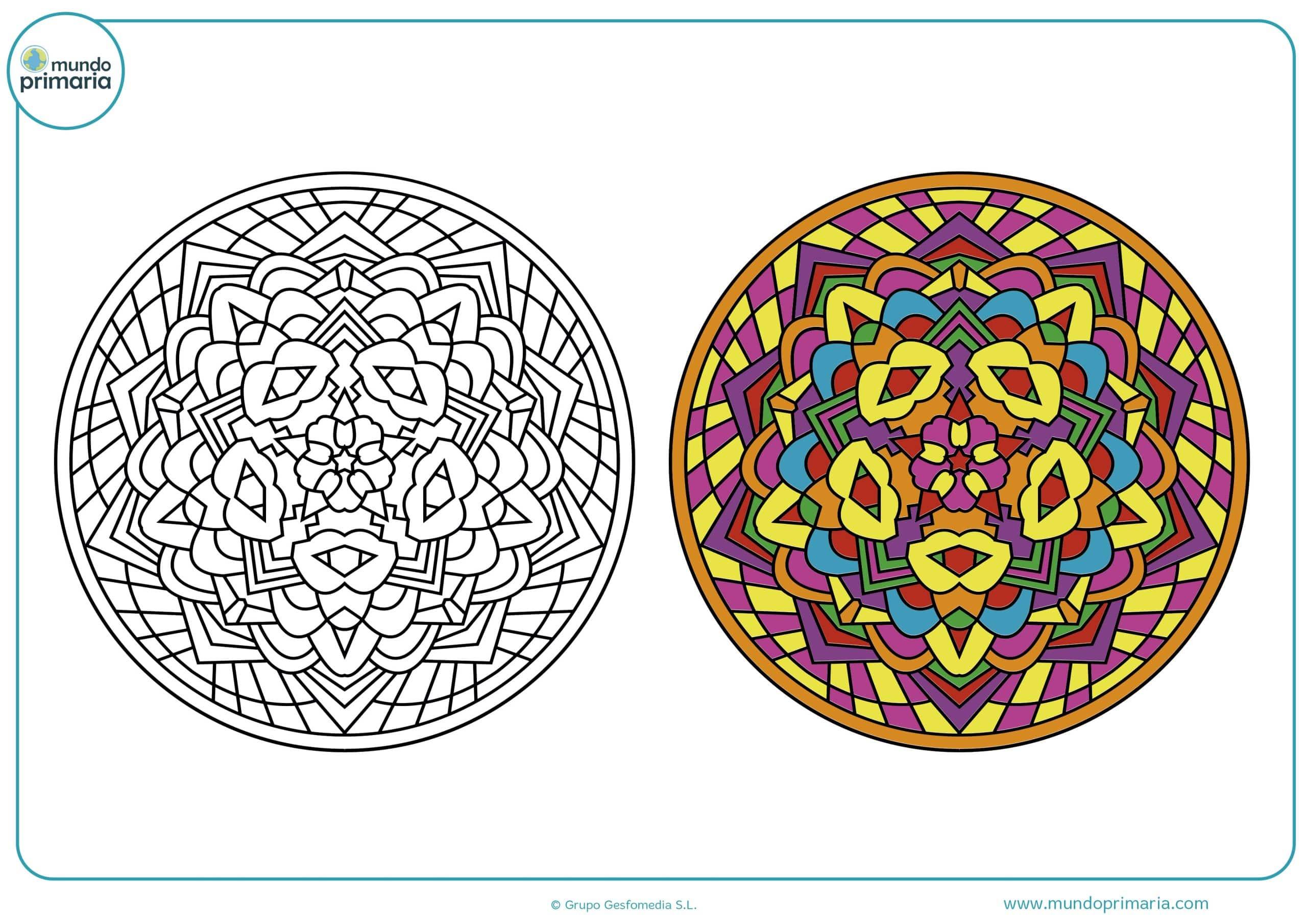 Dibujos fáciles colorear mandalas