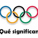 ¿Qué significan los 5 anillos olímpicos?
