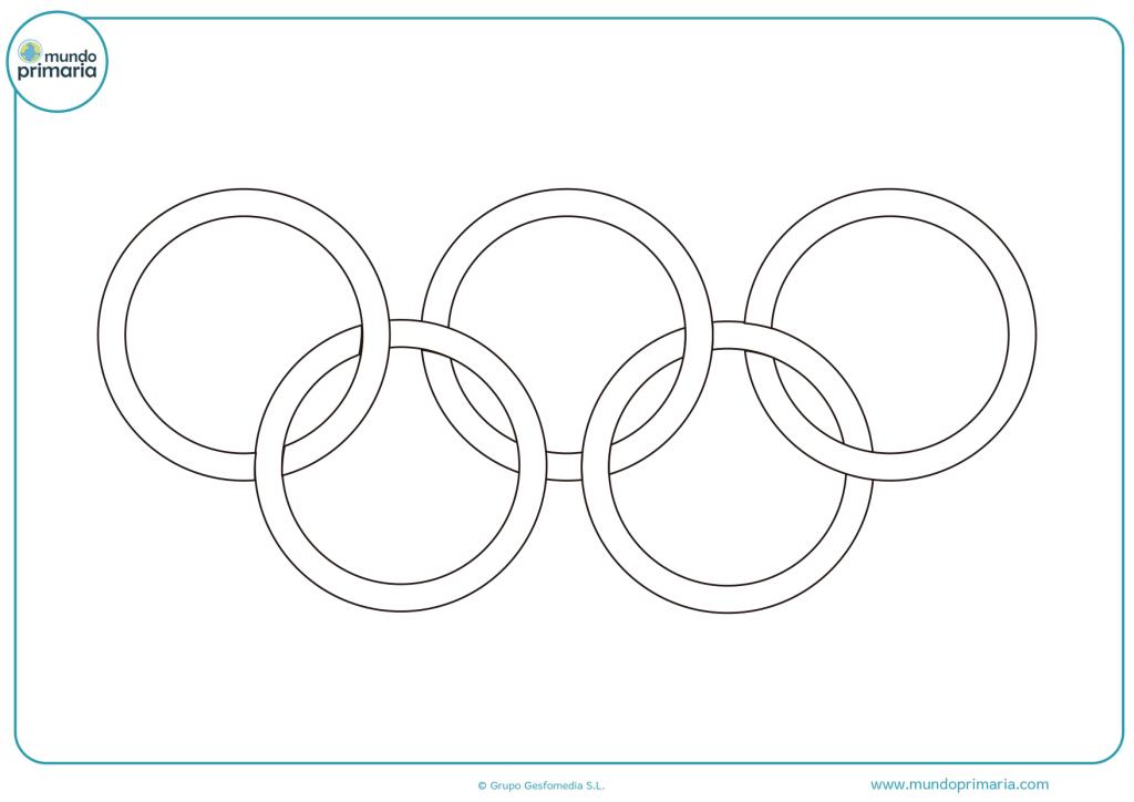 Anillos Olímpicos para colorear