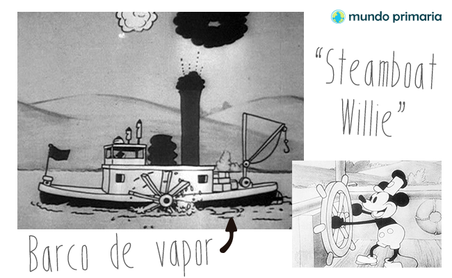 Steam boat Willie, el barco a vapor