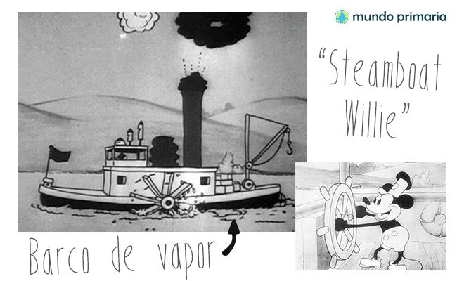 Steam boat Willie, el barco a vapor