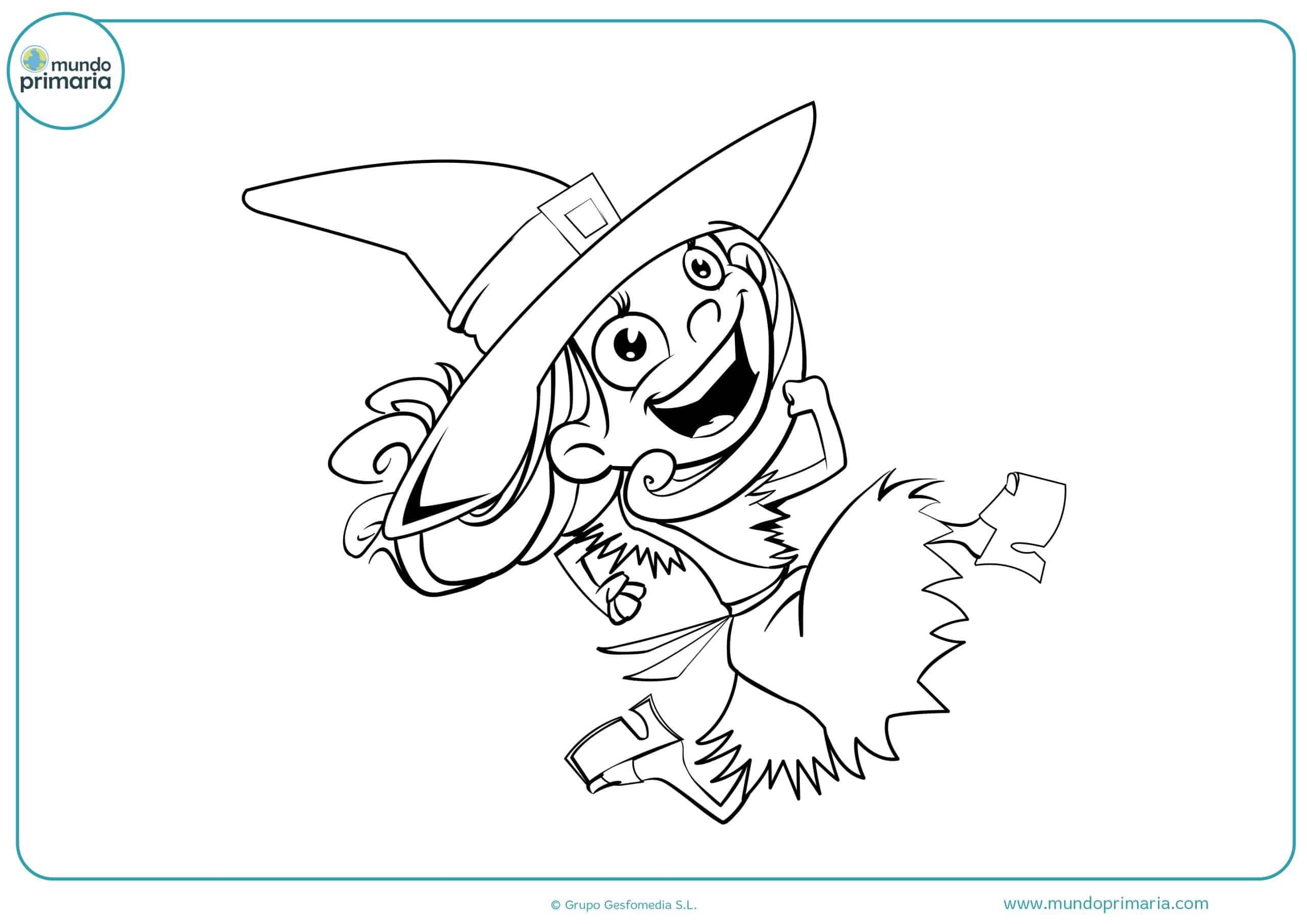 dibujo-halloween-bruja-feliz