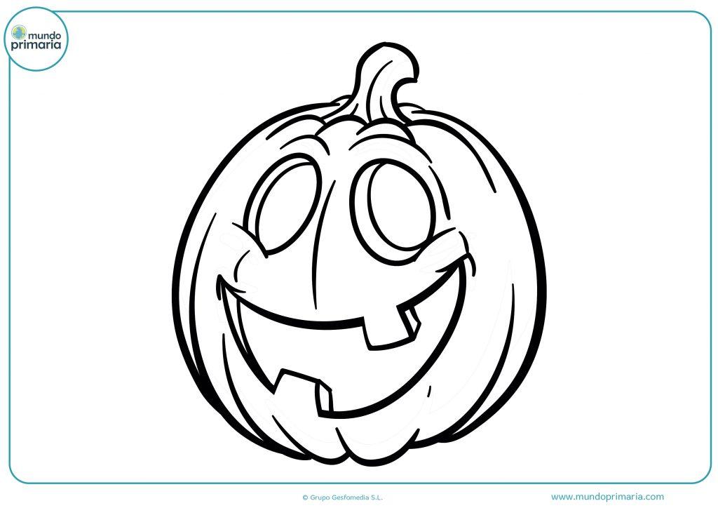 Dibujo calabaza feliz de Halloween para colorear