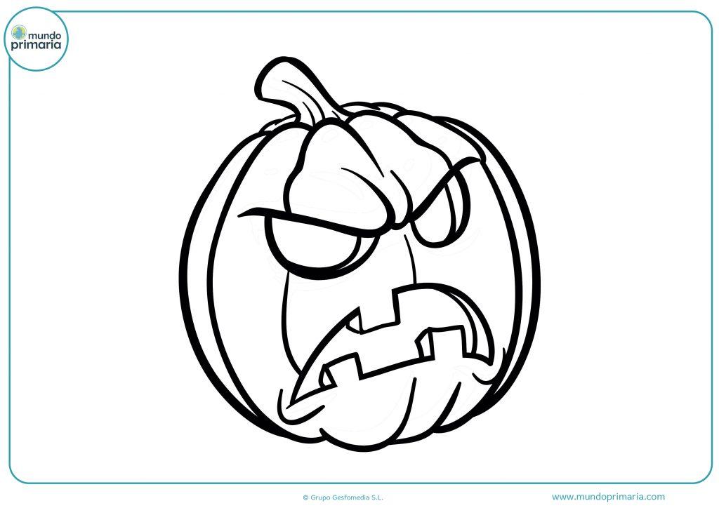 Dibujo calabaza de Halloween para colorear
