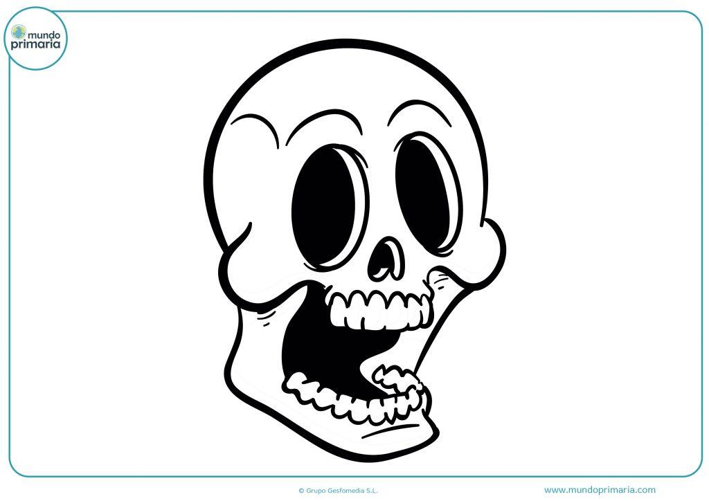 Dibujo calavera boca abierta Halloween
