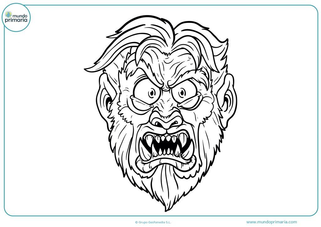 Dibujo cara de hombre lobo