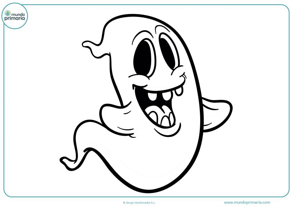 Dibujo de fantasma alegre en halloween