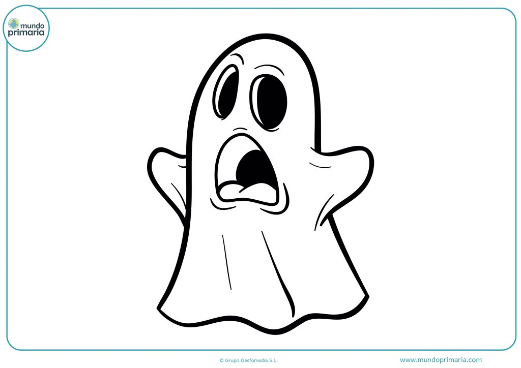 Dibujo fantasma asustadizo en Halloween