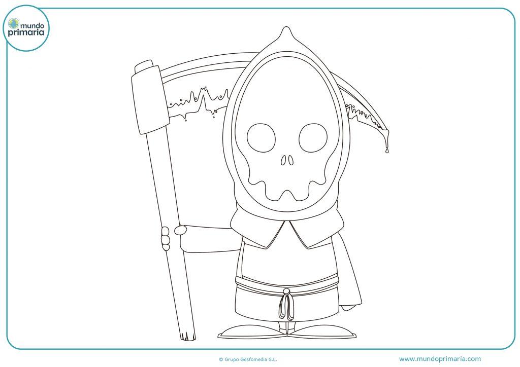 Dibujo de Halloween de un esqueleto
