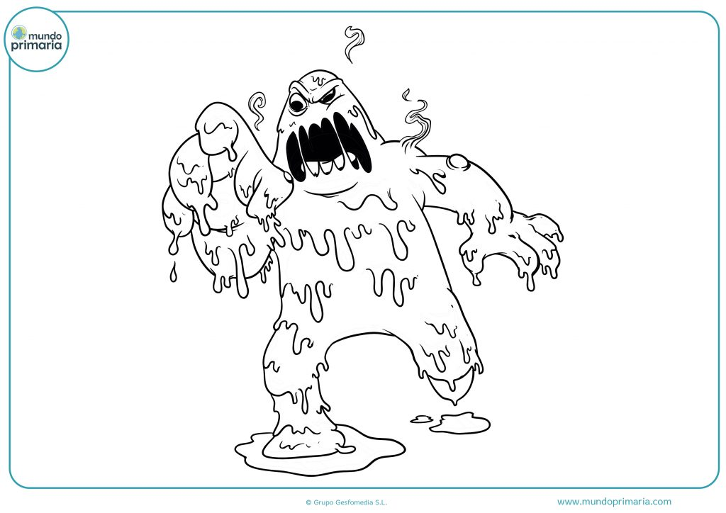 Dibujo monstruo de Halloween