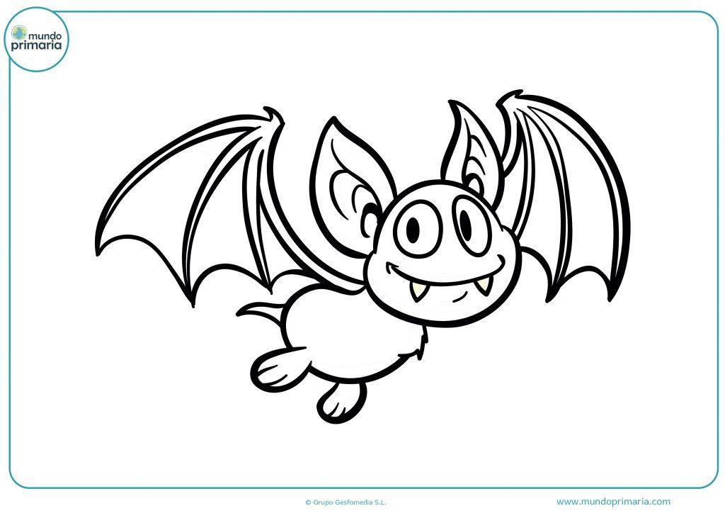 Dibujo de murciélago volando Halloween
