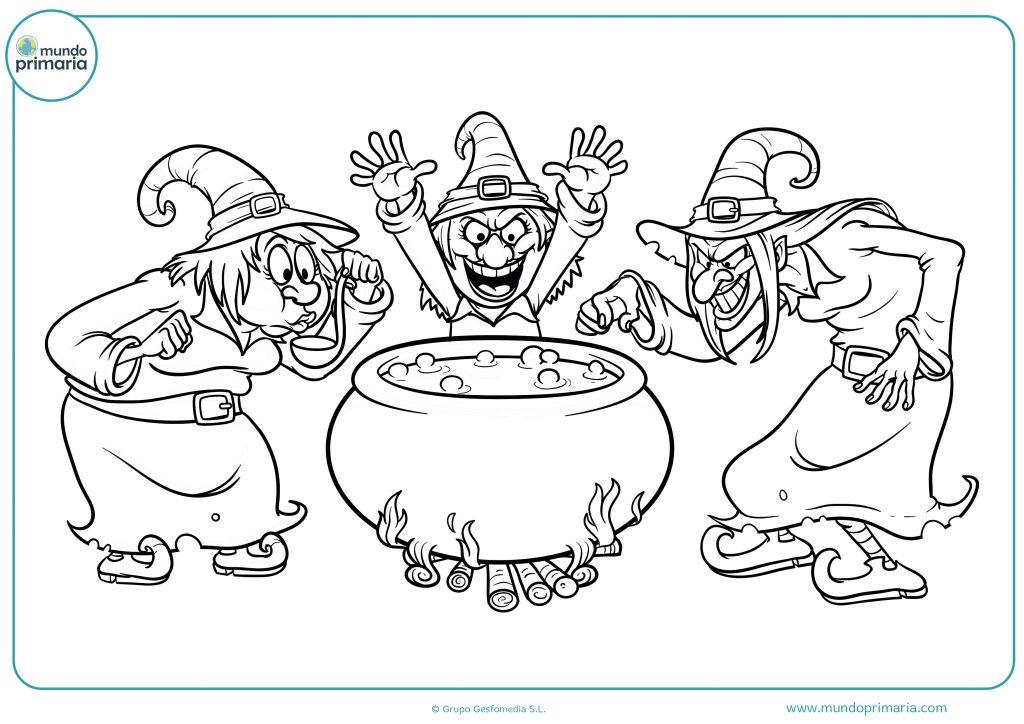 Dibujo poción de brujería