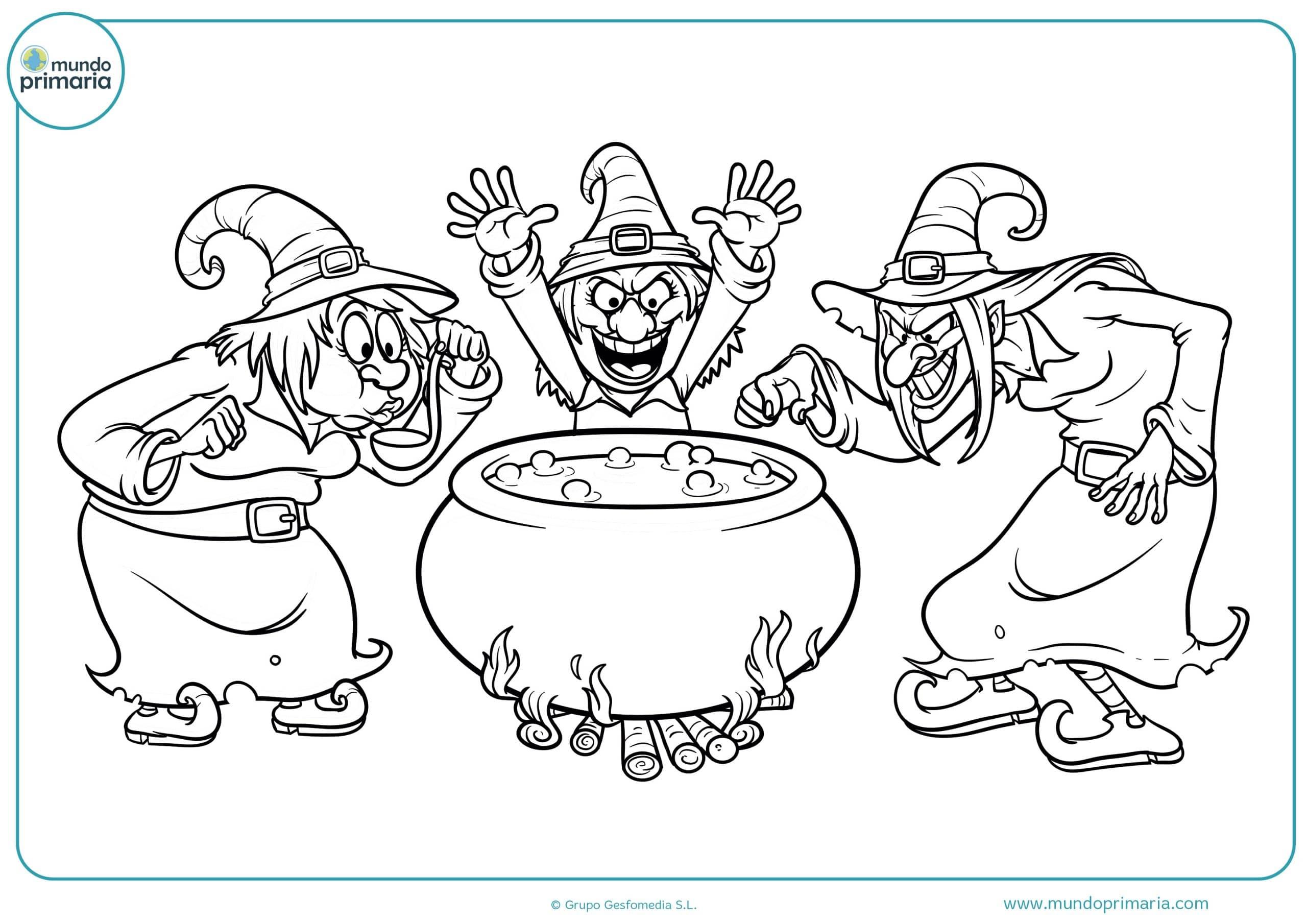 Descargar dibujo Halloween colorear gratis