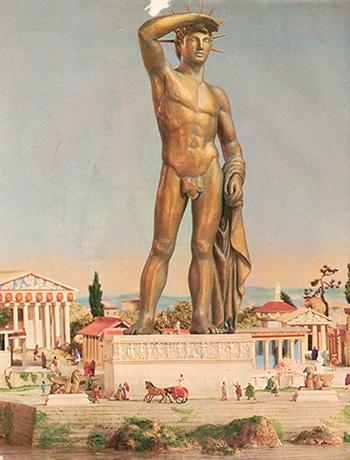 Imagen del Coloso de Rodas en que se inspiró para la Estatua de la Libertad