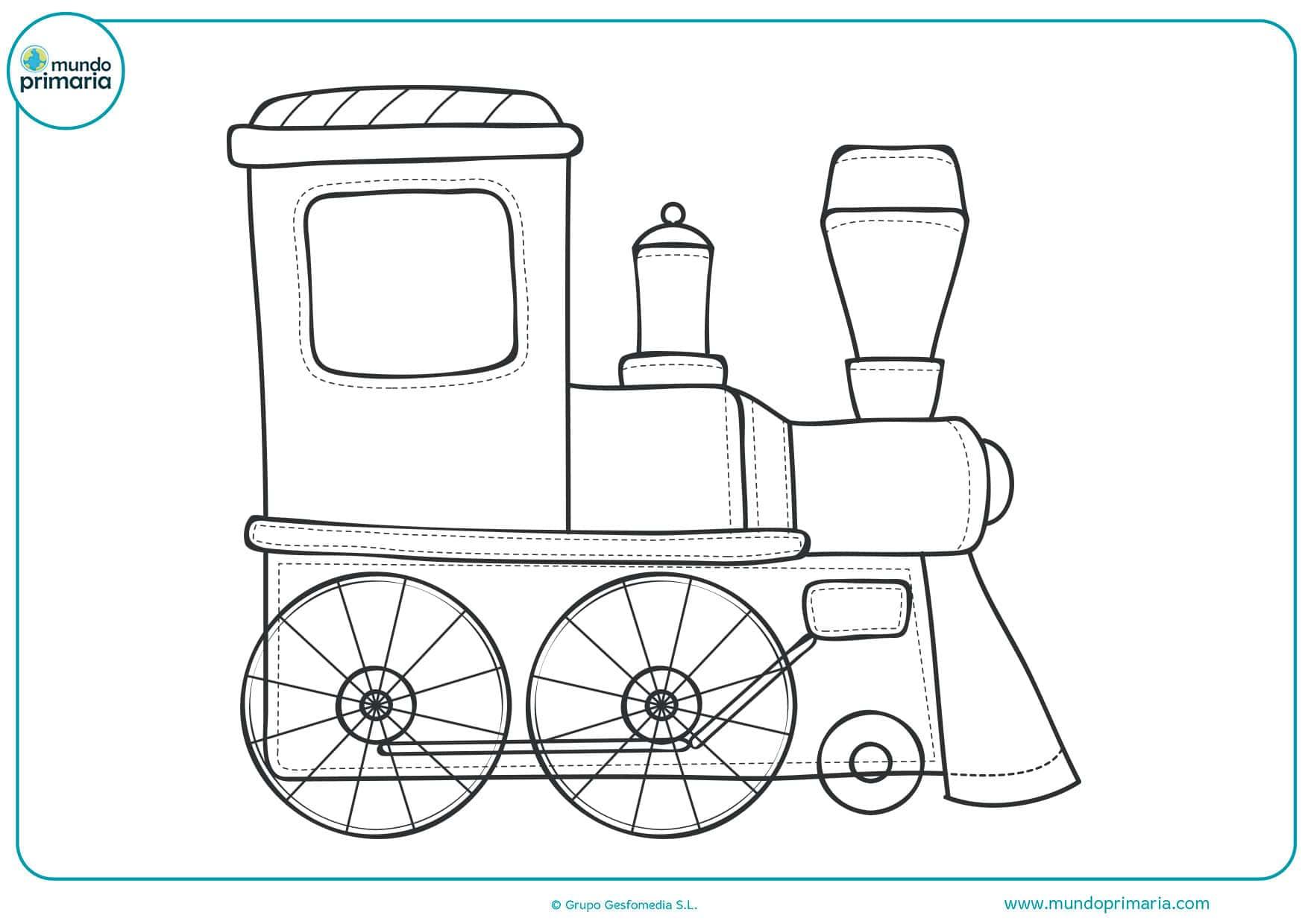 Dibujo Para Colorear Viajar: Dibujos De Trenes Para Colorear