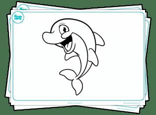 dibujos delfines - 171 DIBUJOS DE ANIMALES SALVAJES PERROS DIBUJAR COLOREAR PARA IMPRIMIR PDF GRATIS