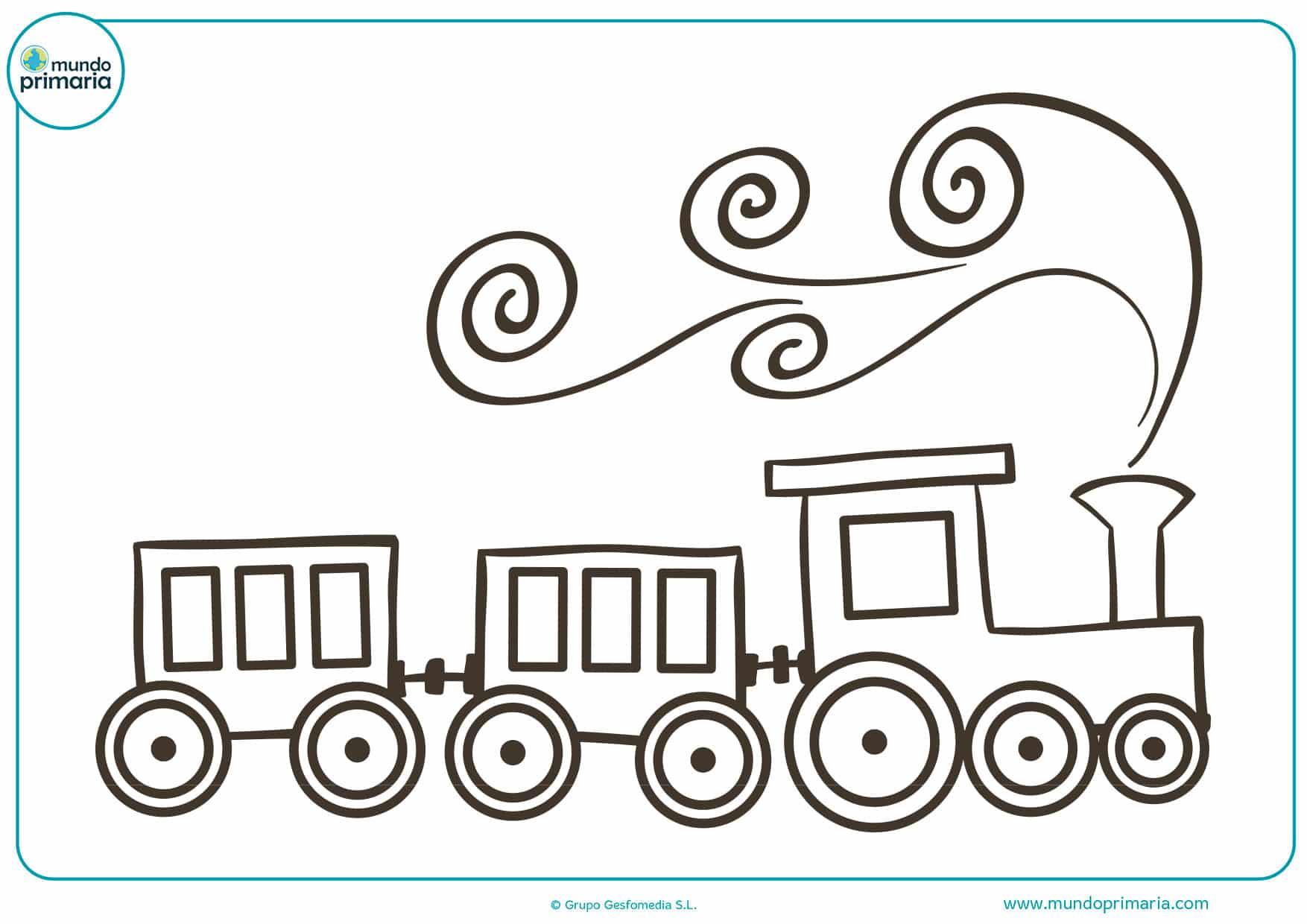 Dibujos de trenes para colorear - Mundo Primaria