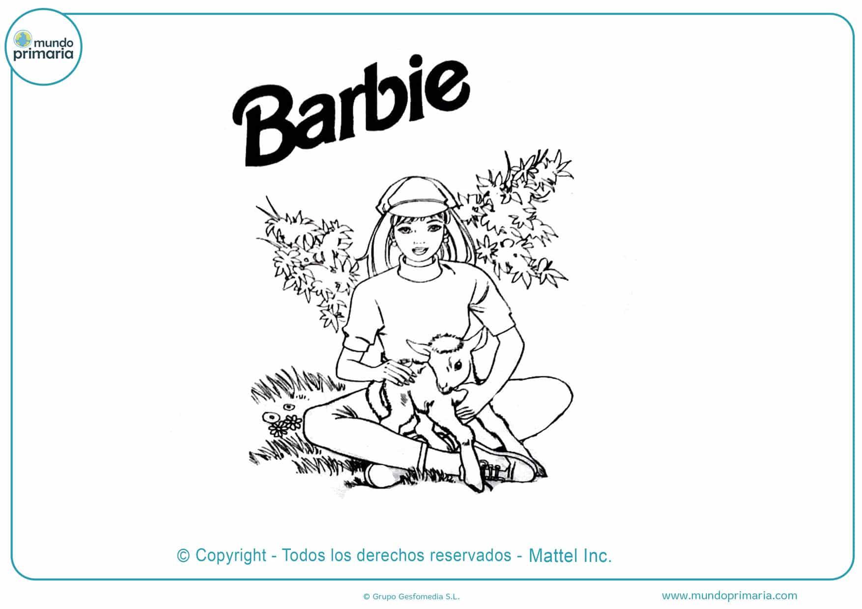 Dibujos De Barbie Para Colorear Imprimir Y Pintar