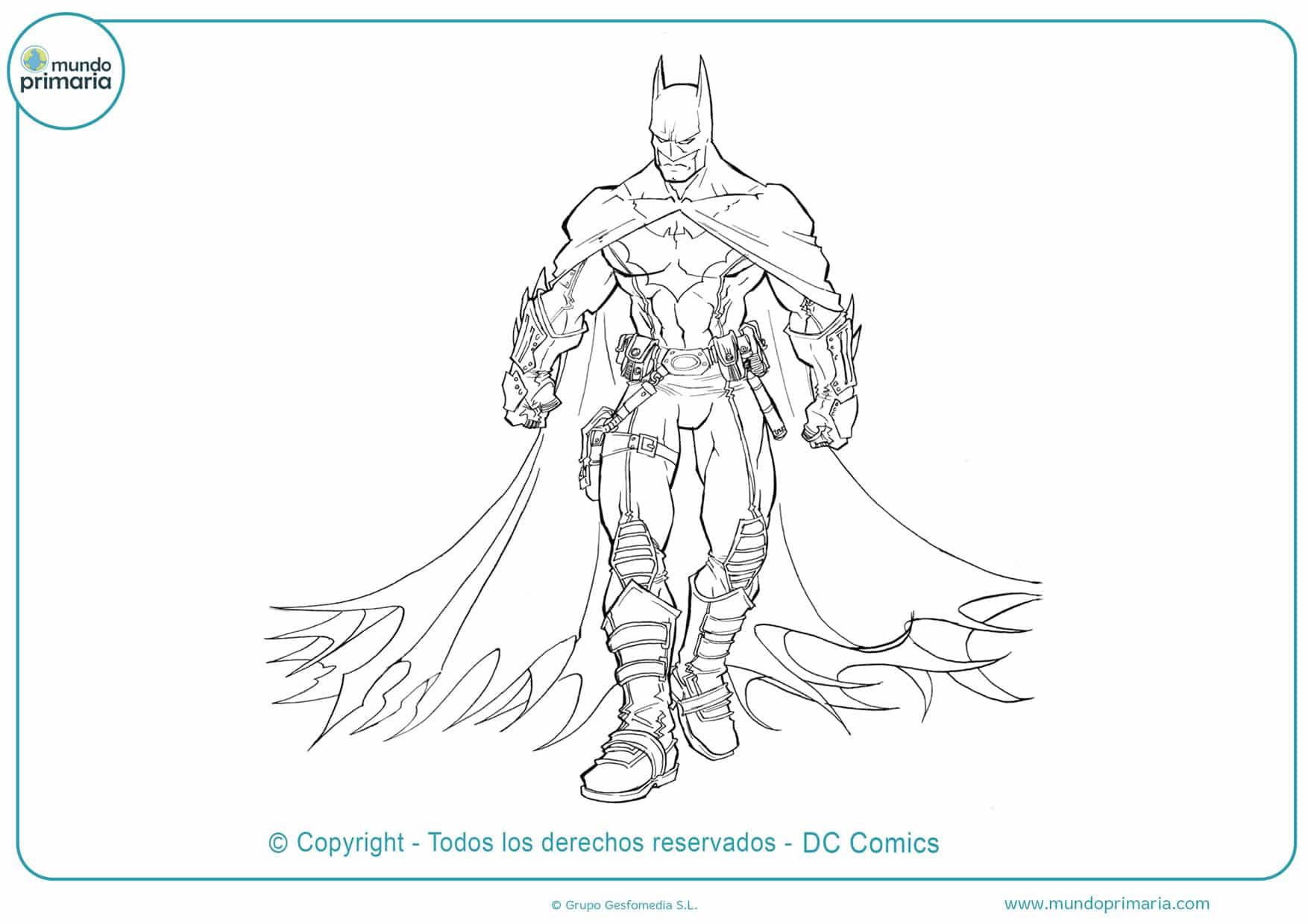 Batman para colorear gratis