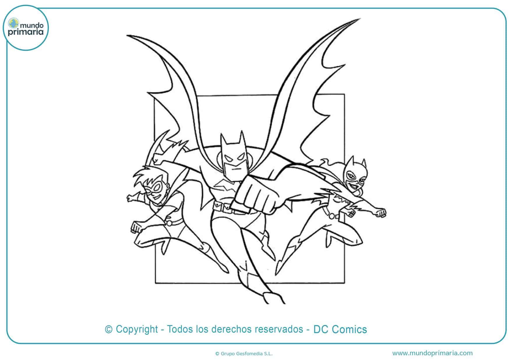 Batman y robin para colorear
