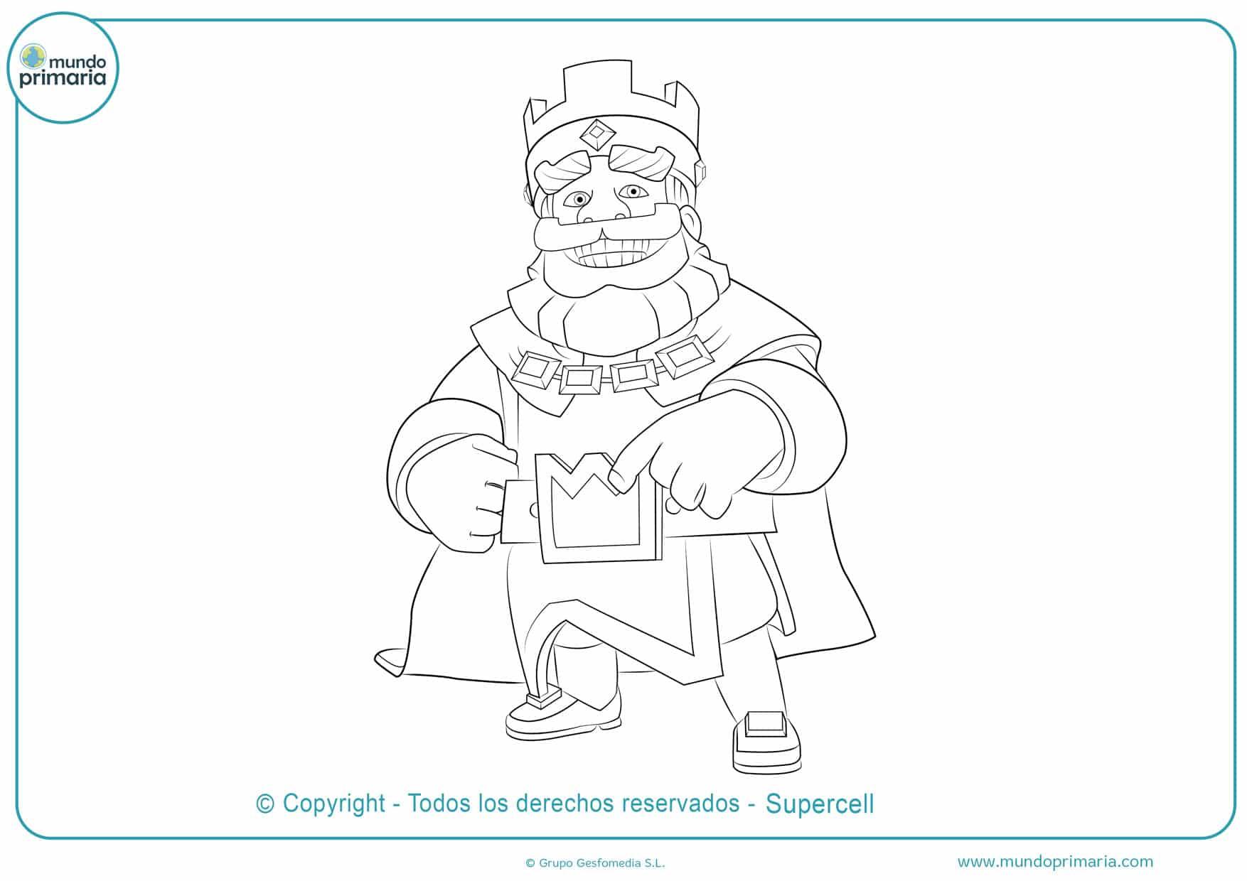 dibujos para colorear clash royale