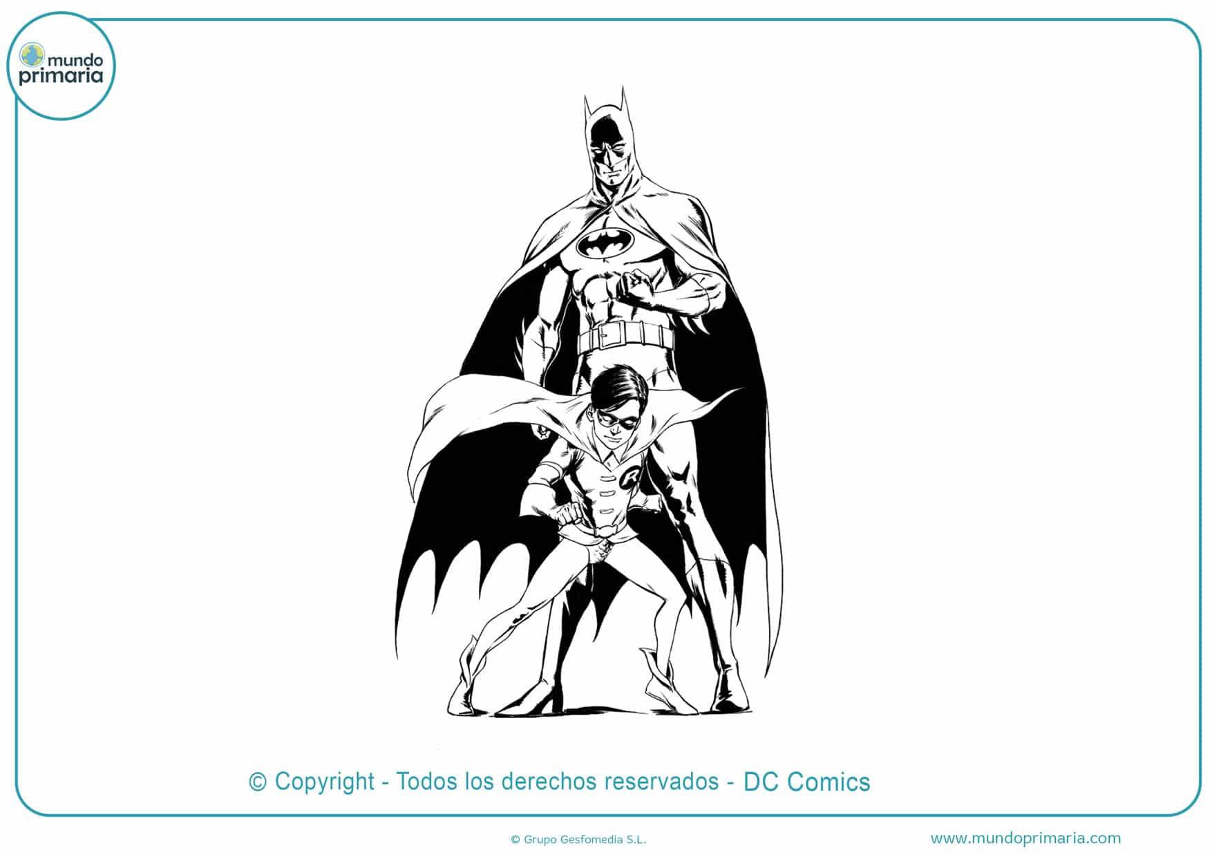 Descargar dibujos colorear batman