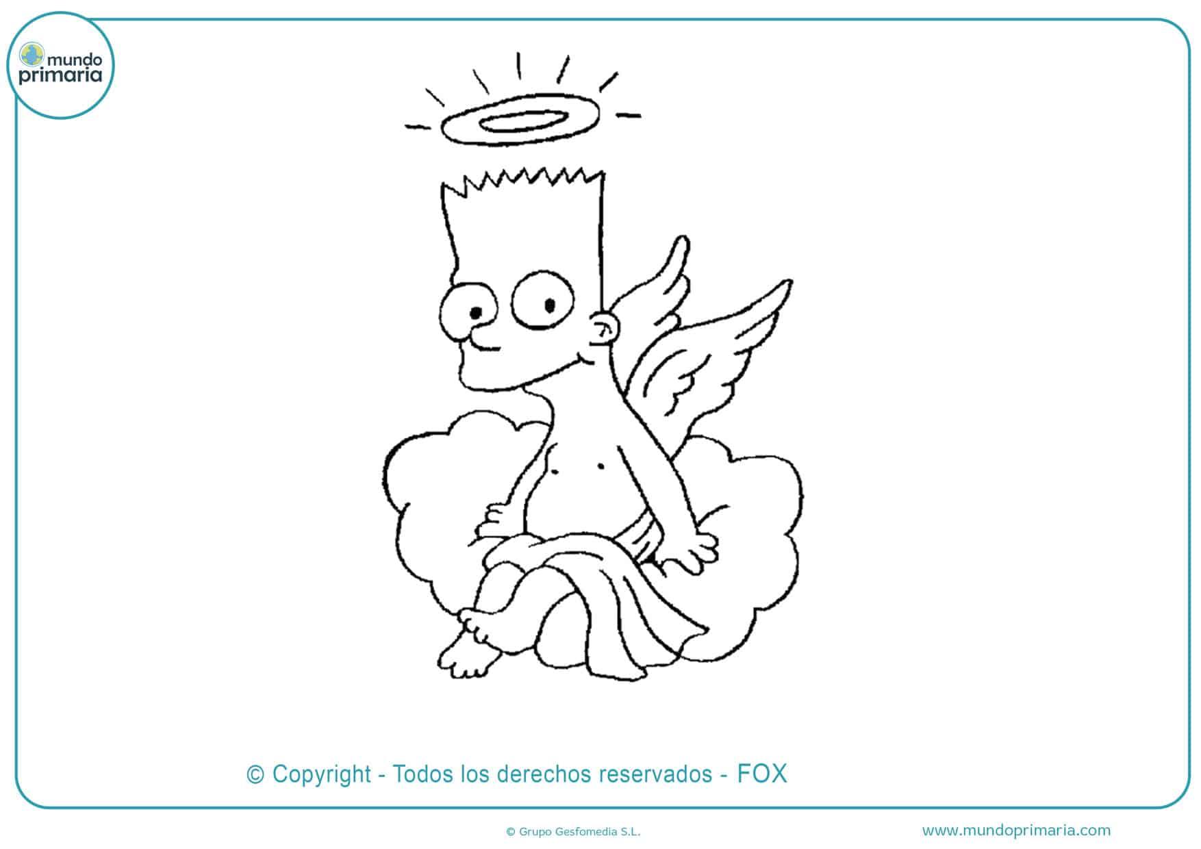 dibujos animados para colorear de los simpson