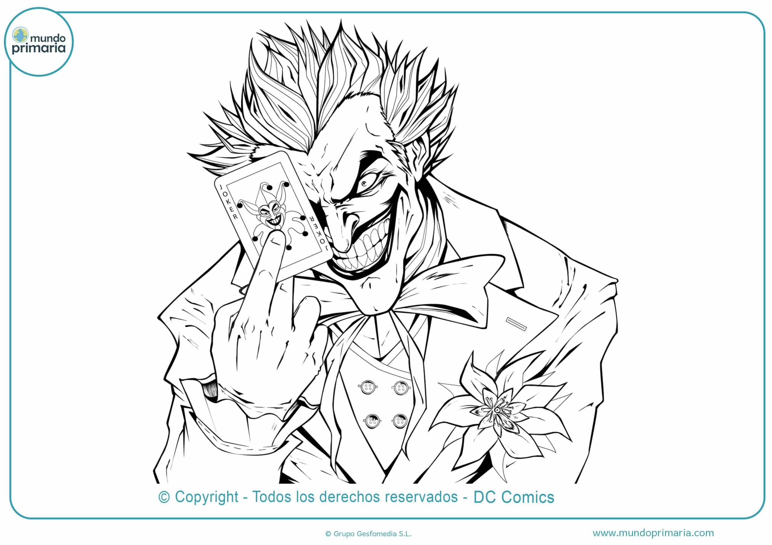 dibujos de batman y joker para colorear