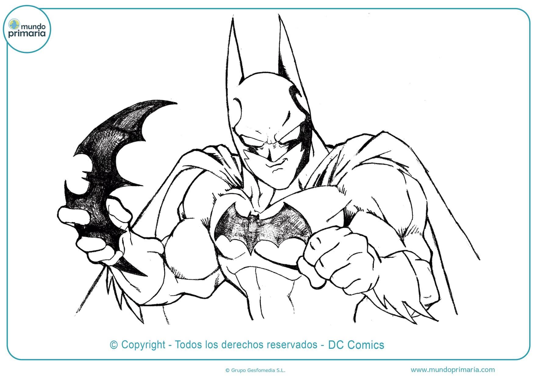 Dibujos de batman para colorear e imprimir