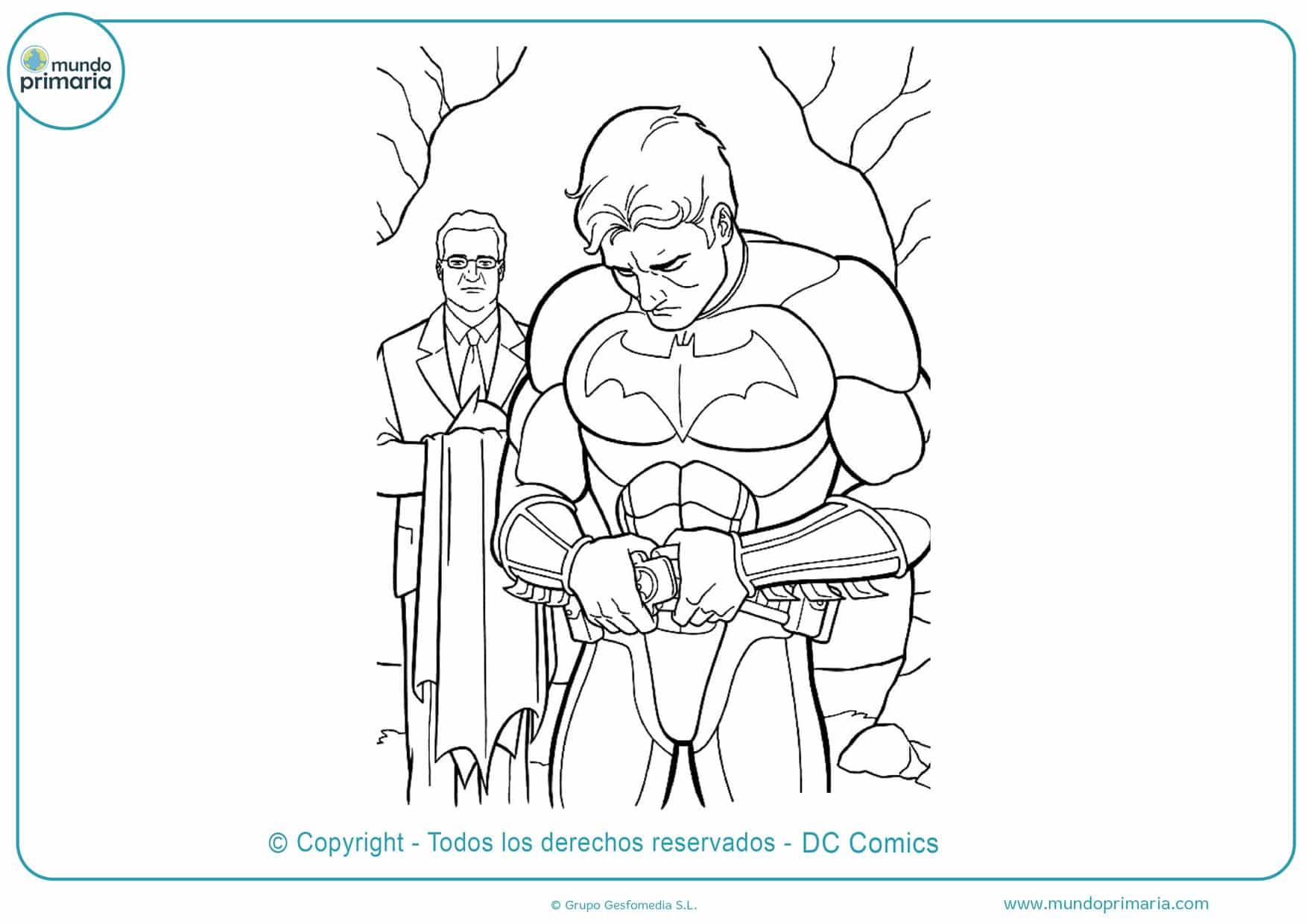 Dibujos de batman para colorear gratis