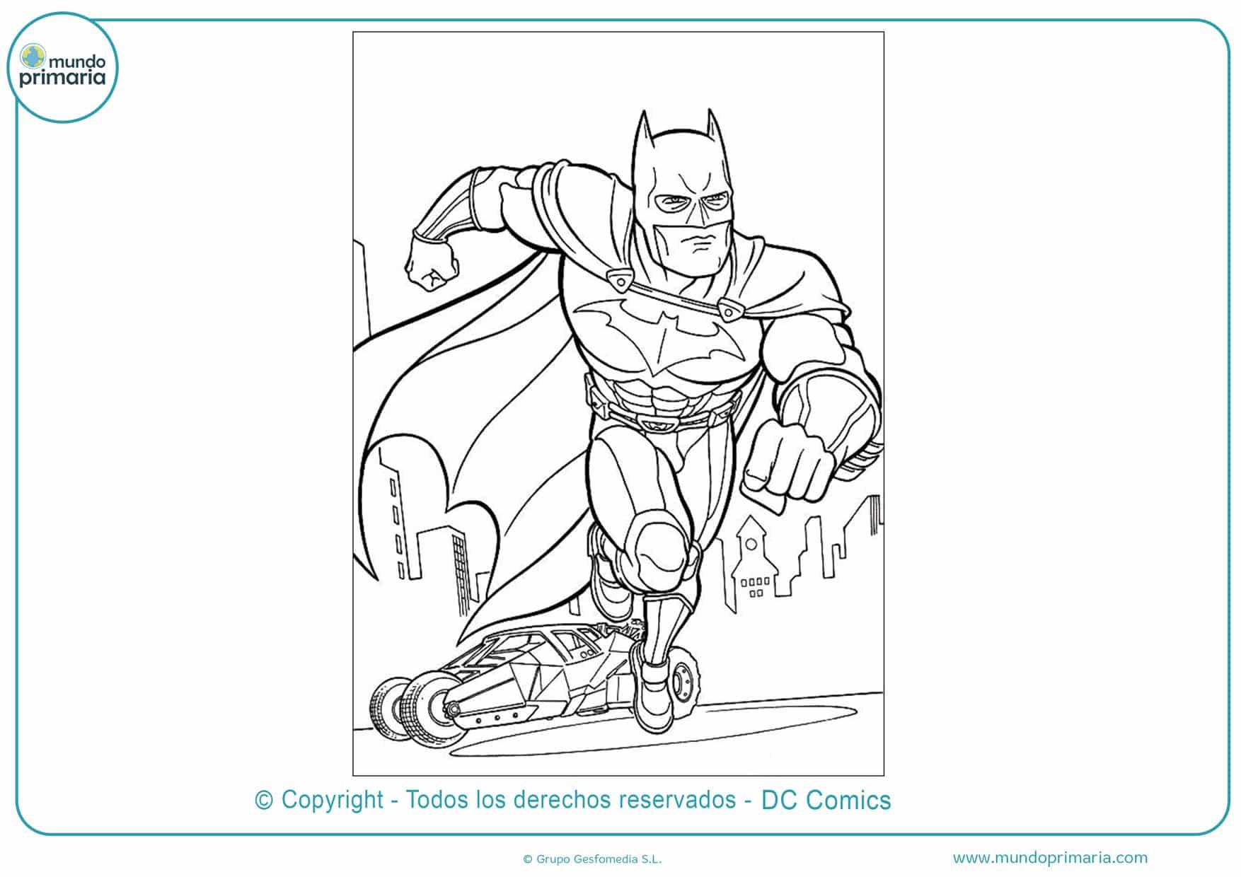 Dibujos de batman para colorear