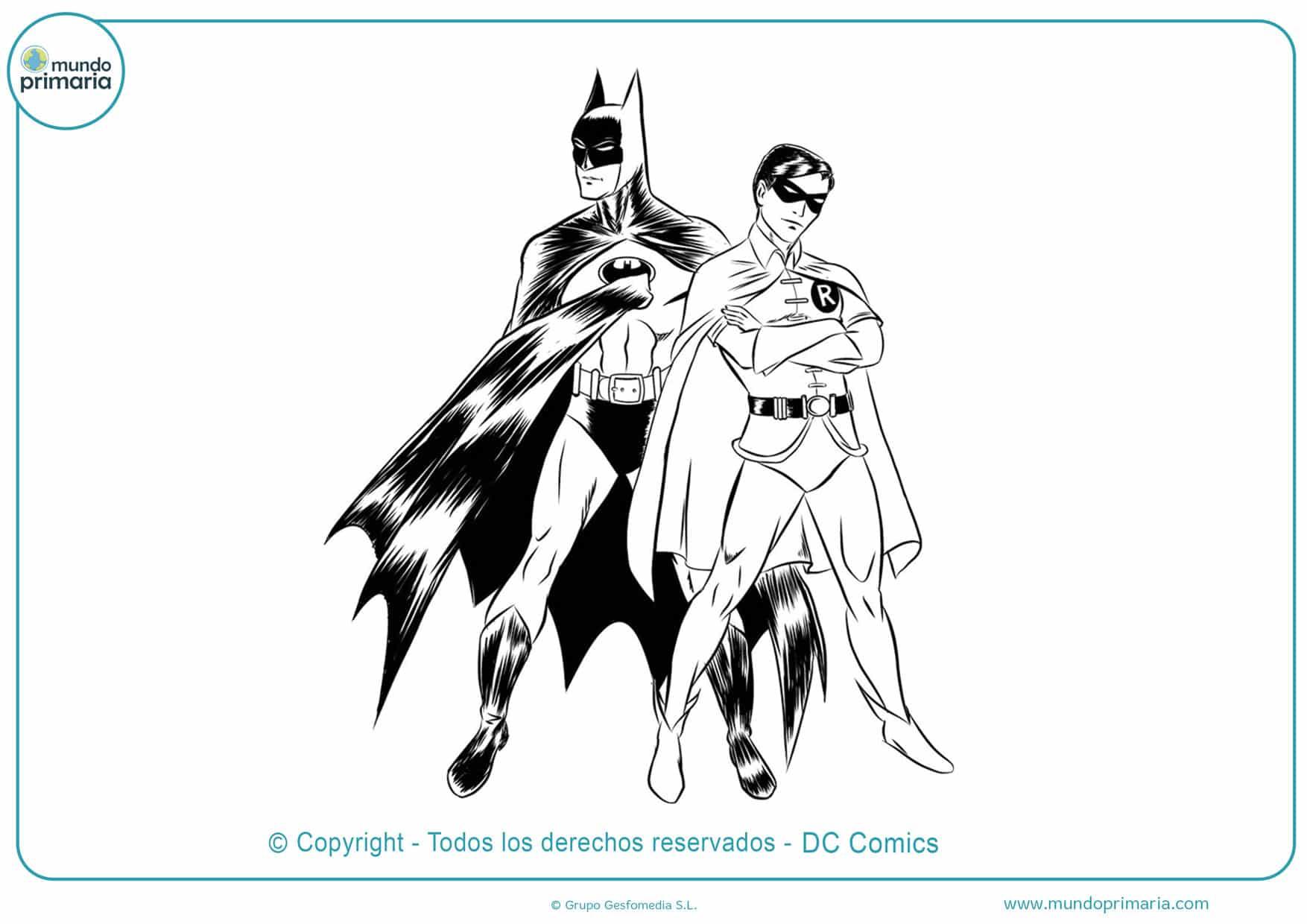 Dibujos De Batman Para Colorear Imprimir Y Pintar