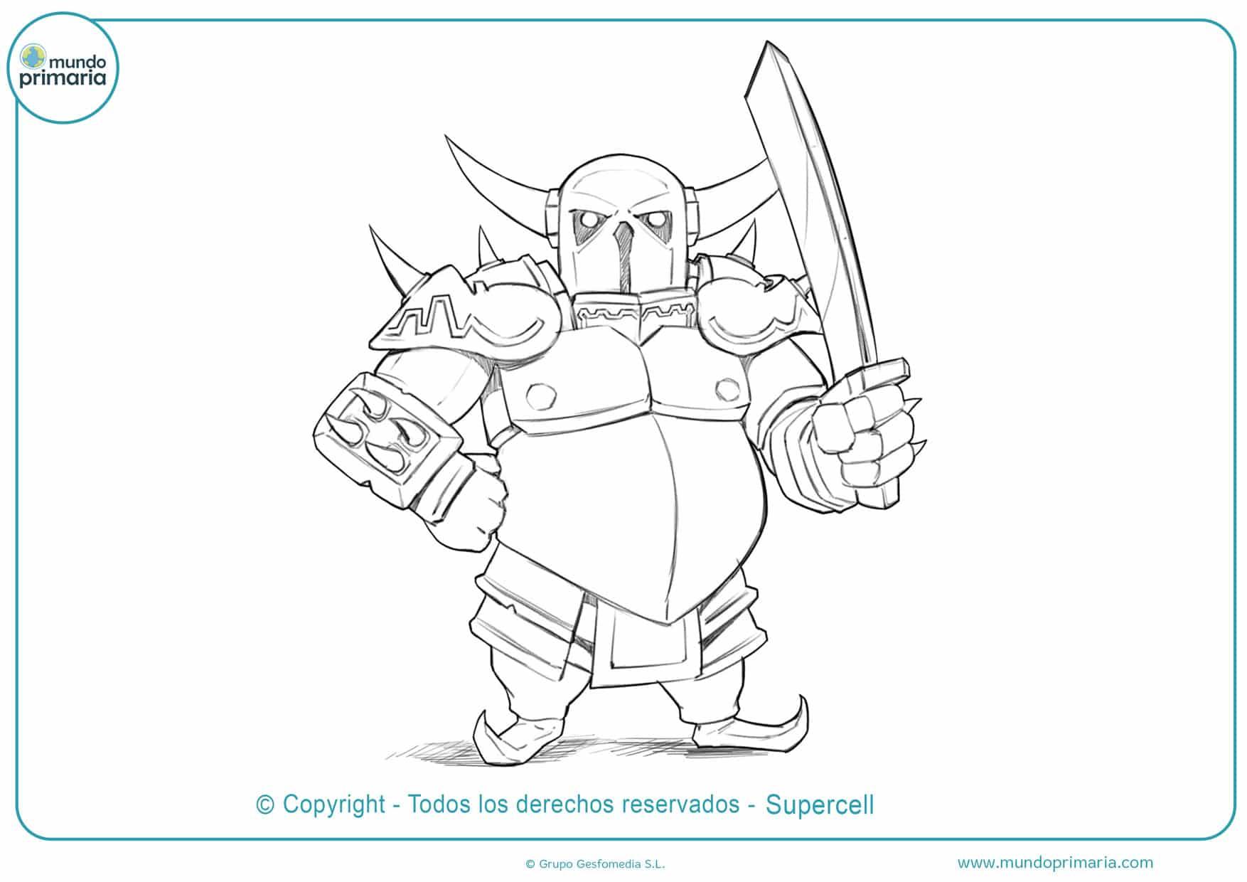 dibujos de clash royale del gran pekka