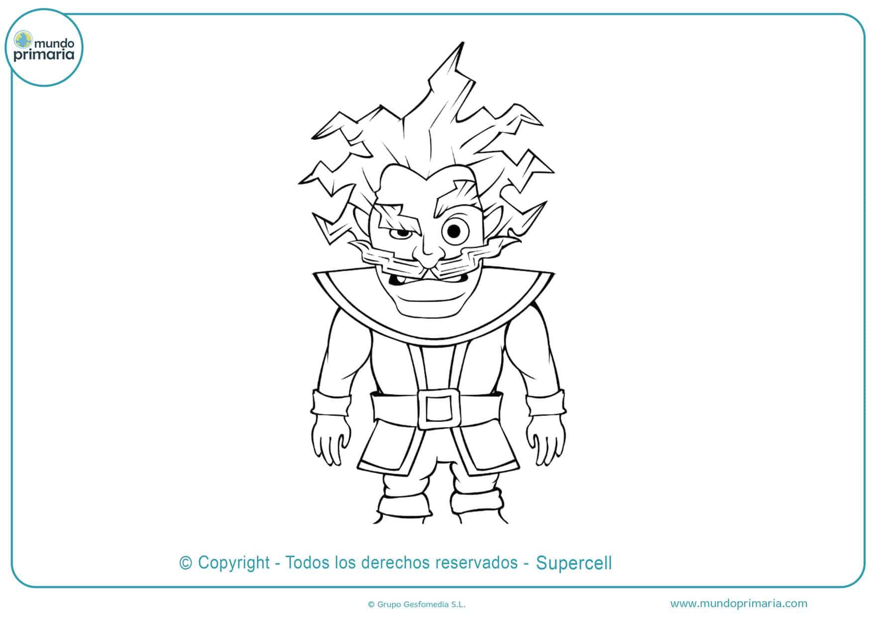 dibujos clash royale para colorear de legendarias